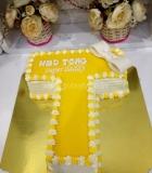 letter cream cake