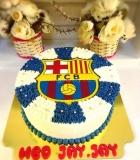 barcelona fc football team photo cake
