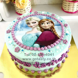Purple and blue Photo cake of princess Elsa from Frozen
