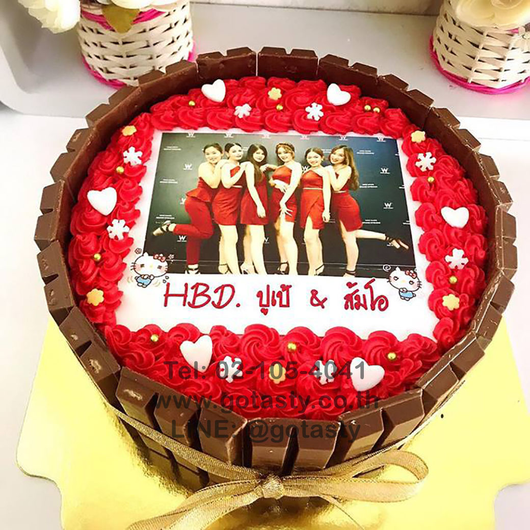 KitKat photo birthday cake