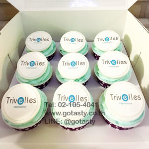 Company logo cupcake