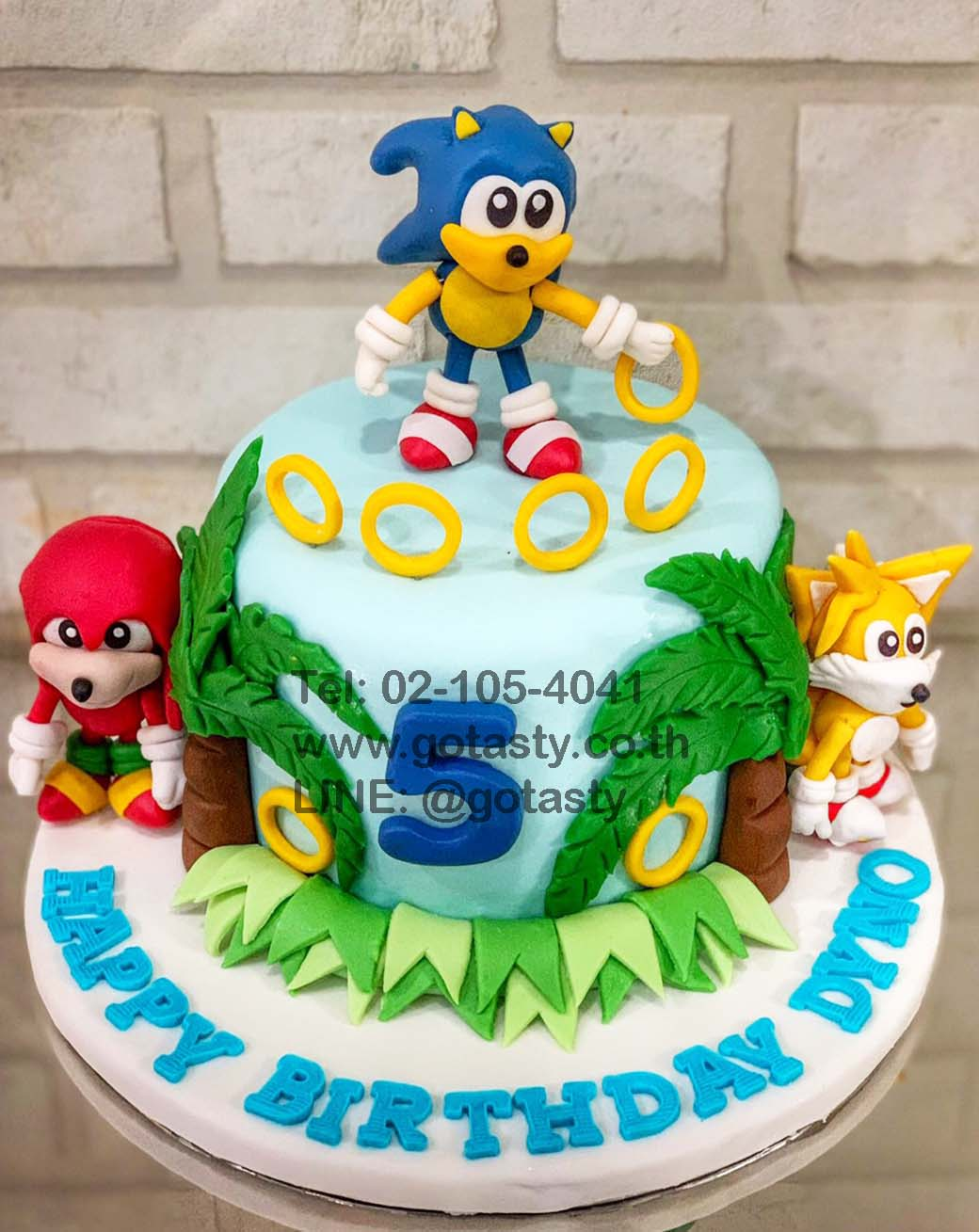 Sonic the hedgehog 3d fondant cake